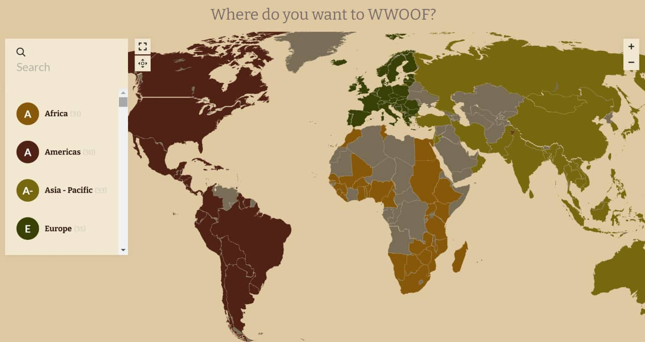 carte woofing monde